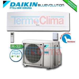 DAIKIN CLIMATIZZATORE CONDIZIONATORE MONOSPLIT PARETE INVERTER BLUEVOLUTION 18000 BTU/h EMURA BIANCO FTXJ50MW/RXJ50M R32 A++ A+ WI-FI INCLUSO