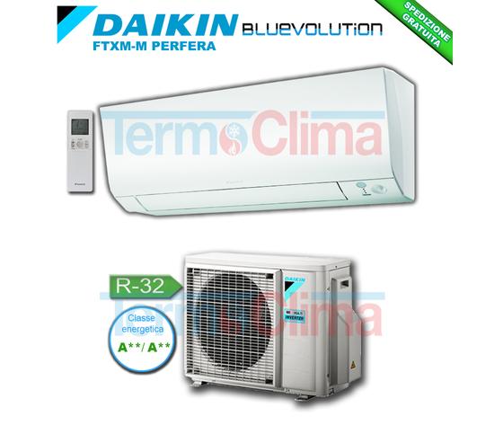 DAIKIN CLIMATIZZATORE CONDIZIONATORE MONO SPLIT MONOSPLIT PARETE INVERTER BLUEVOLUTION PERFERA 18000 BTU/h SERIE M FTXM50M/RXM50M R32 A++A++ WI-FI OPTIONAL