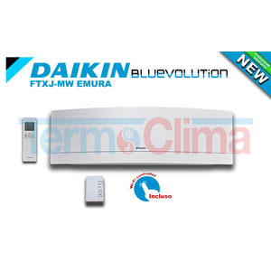 DAIKIN UNITA' INTERNA SPLIT PARETE INVERTER BLUEVOLUTION 12000 BTU/h EMURA BIANCO FTXJ35MW R32 A++ A++ WI-FI INCLUSO