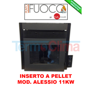 INSERTO CAMINO PELLET ALESSIO 11Kw EVA CALOR/ PUNTO FUOCO