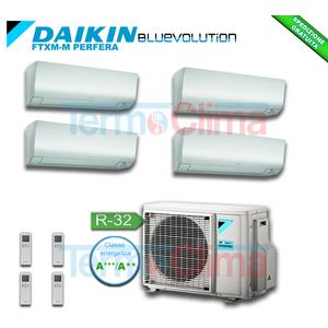 DAIKIN CLIMATIZZATORE CONDIZIONATORE QUADRI SPLIT QUADRISPLIT (4MXM68M) PARETE INVERTER BLUEVOLUTION 9+9+9+12 SERIE M FTXM25M+FTXM25M+FTXM25M+FTXM35M+4MXM68N A+++ A++ R32 WI-FI OPTIONAL