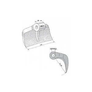 Mazza trincia sarmenti tipo RM 6