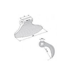 Mazza trincia sarmenti tipo RM 16