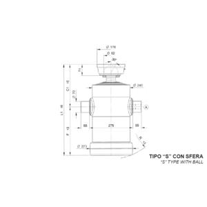 Cilindro Telescopico con 6 sfilate