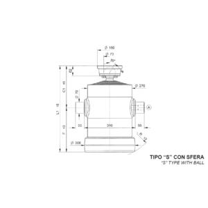 Cilindro Telescopico con 8 sfilate