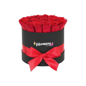 Flower Box Rose  Rotondo Nero