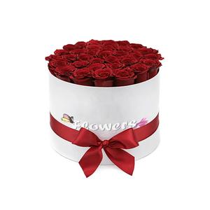 Flower Box Rose  Rotondo Bianco