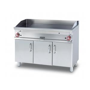 fry-top liscio gas su mobile a giorno ftl-712g