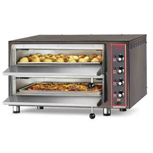 Forno pizza elettrico con refrattario in pietra lavica  8-pizza-CB  4TER
