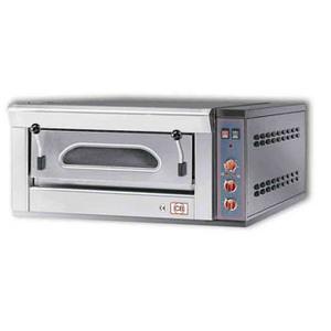 Forno pizza elettrico manuale con refrattario in pietra lavica  FP4M