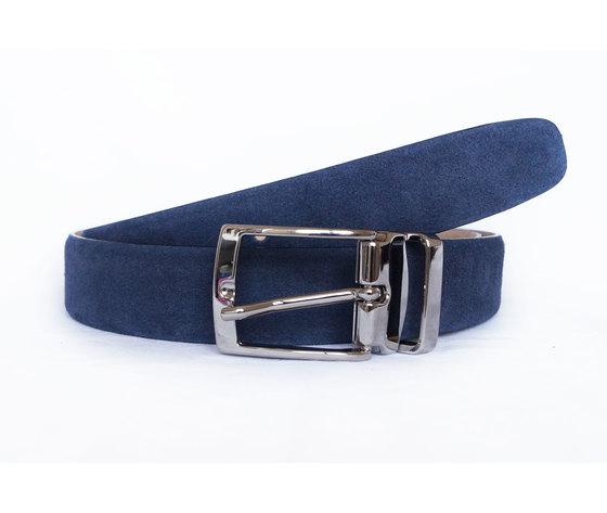 Cintura in Camoscio Blu Scuro