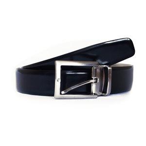 Cintura Vitello Nero Lucido Spazzolato