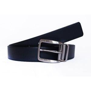 Cintura Vitello Nero Con Cucitura