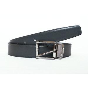 Cintura Vitello Grigio Con Cucitura