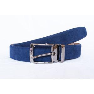 Cintura in Camoscio Blu Chiaro