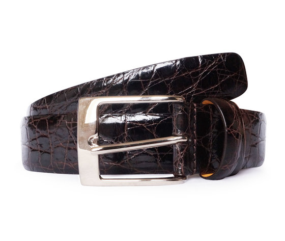 Cintura in coccodrillo Marrone