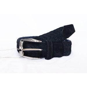Cintura Intrecciata Scamosciato Nero