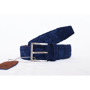Cintura Intrecciata Scamosciato Blu