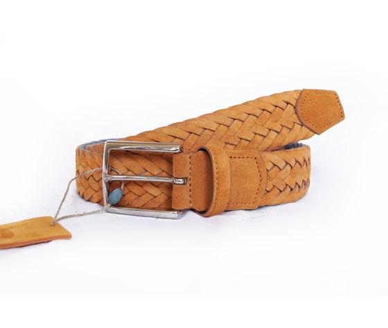 Cintura Intrecciata Scamosciato Giallo