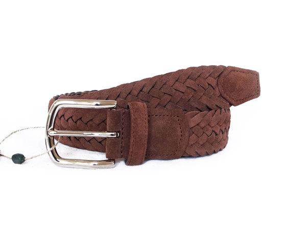 Cintura Intrecciata Scamosciato Marrone