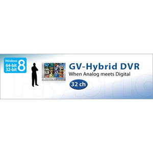 GV-Hybrid DVR for capture Cards coexist IP Cameras (Windows 8 - 64/32 bit)