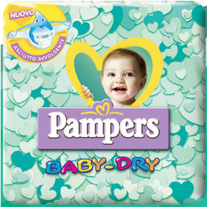 PAMPERS BABY DRY PANNOLINI 10 CONFEZIONI ASSORTITE