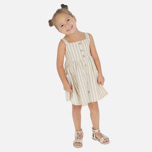 Vestito righe lino bambina