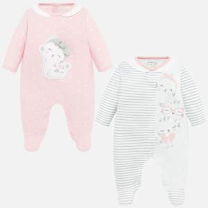 Set pigiami con disegni neonata