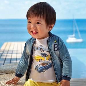 Maglietta manica corta macchine bambino