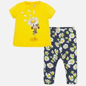 Completo maglietta e leggings stampato bambina