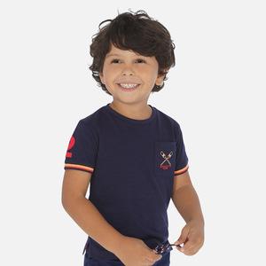 Maglietta manica corta tasca bambino