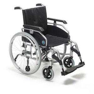 Carrozzina manuale pieghevole in alluminio a doppia crociera con schienale tensionabile - KSP