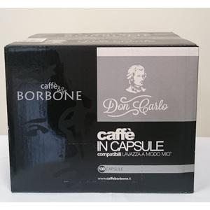 CAFFE' IN CAPSULE COMPATIBILI BORBONE PER MACCHINE LAVAZZA A MODO MIO MISCELA NERA