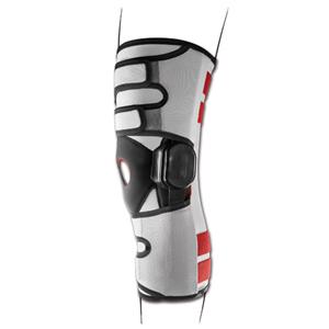 Ginocchiera elastica con aste articolate e regolazione della flesso-estensione