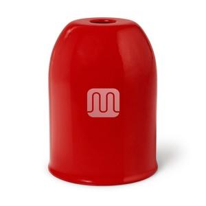 Bicchierino Copriportalampada In Metallo Rosso