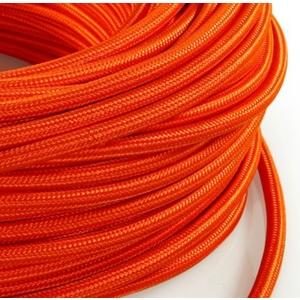 Cavo elettrico rotondo rivestito in tessuto Arancione Arancio