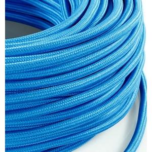Cavo elettrico rotondo rivestito in tessuto Azzurro