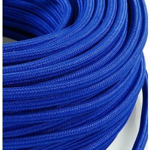 Cavo elettrico rotondo rivestito in tessuto Blu