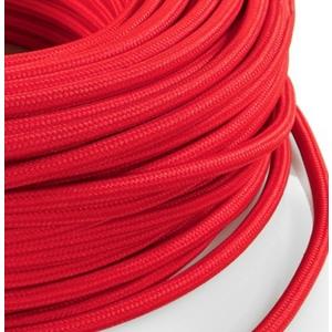 Cavo elettrico rotondo rivestito in tessuto Rosso