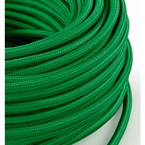 Cavo elettrico rotondo rivestito in tessuto Verde