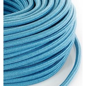 Cavo elettrico rotondo rivestito in tessuto Grezzo Turchese Azzurro