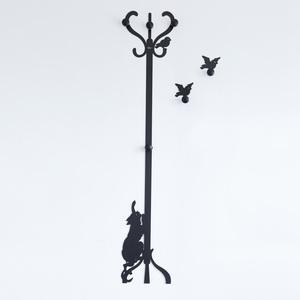 Appendiabiti da Terra /  Parete gatto  Romeo e Gli Uccellini  design Arti e Mestieri