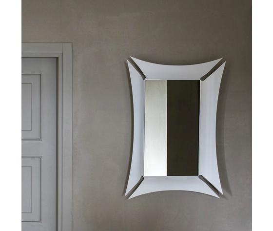 Specchio morgana appeso parete argento