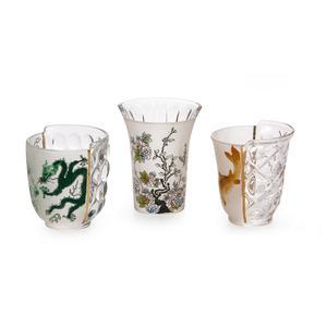 Set da 3 Pz di Bicchieri Hybrid Aglaura Marca Seletti