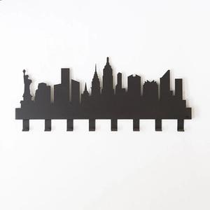 Appendiabiti a Muro New York Arti e mestieri made in Italy design Arti e mestieri Nero metoo-design