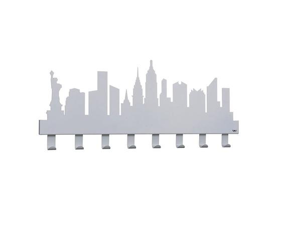 Appendiabiti muro arti e mestieri new york alluminio