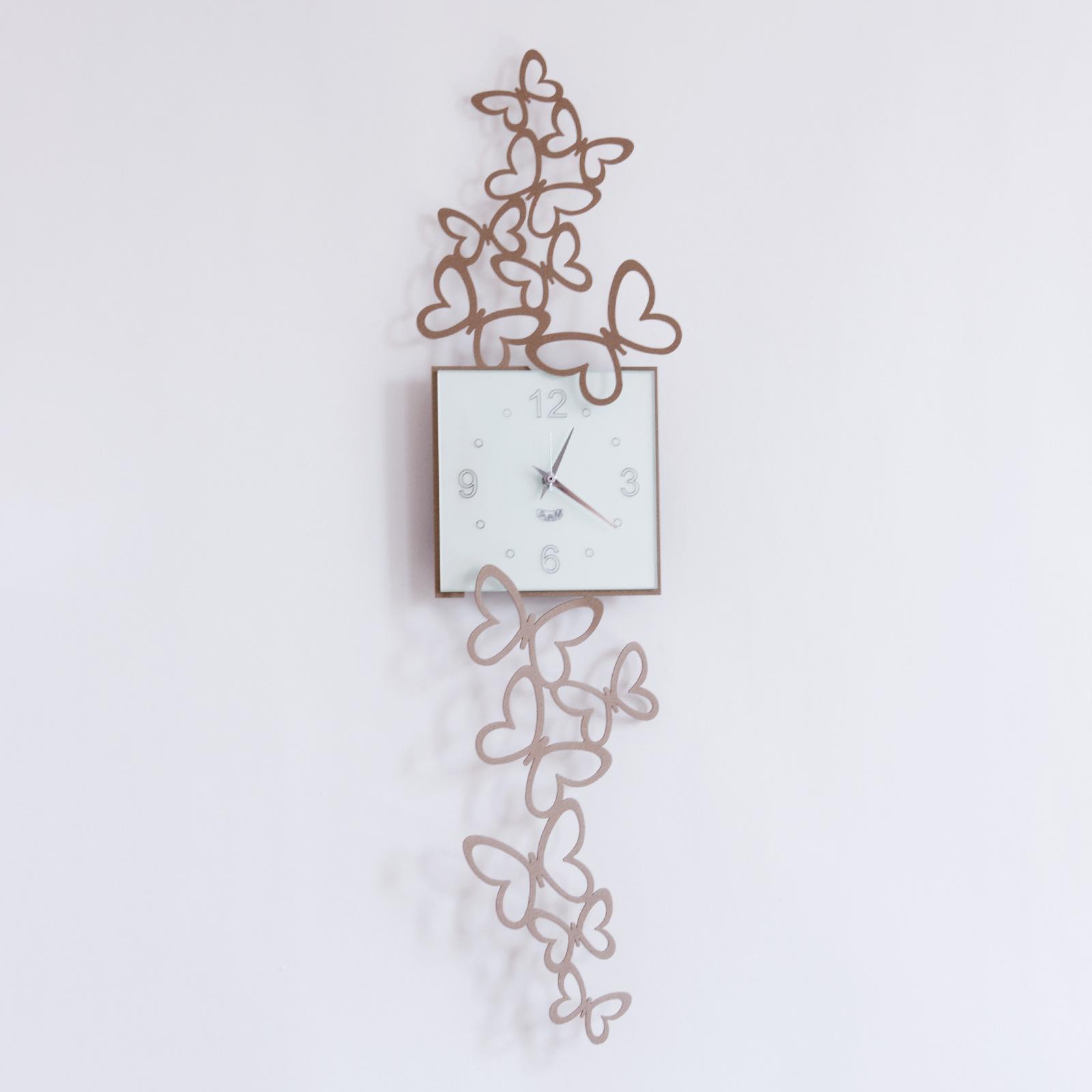 Orologio Da Muro O Parete Design Arti E Mestieri Butterfly In Volo