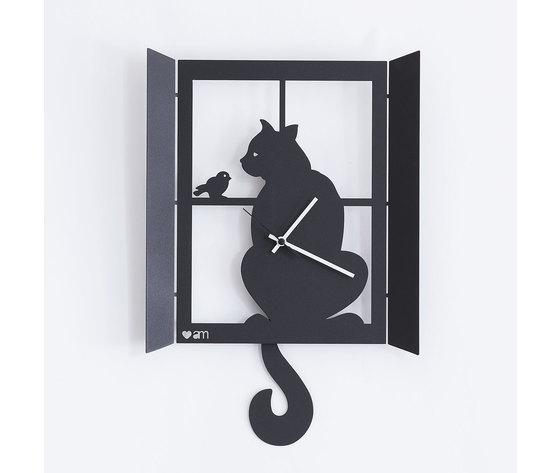 Orologio gatto alla finestra 11008 c71