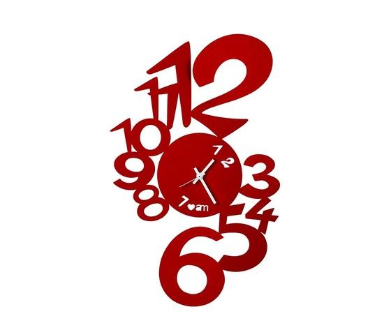 Orologio grandi numeri lupin rosso