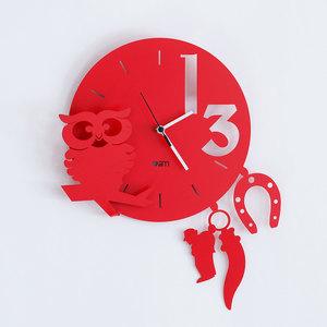 Orologio da Parete  Moderno Portafortuna Lucky Strike , Arti E Mestieri